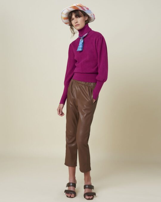 Silvian Heach Purple Puff Sleeve Jumper