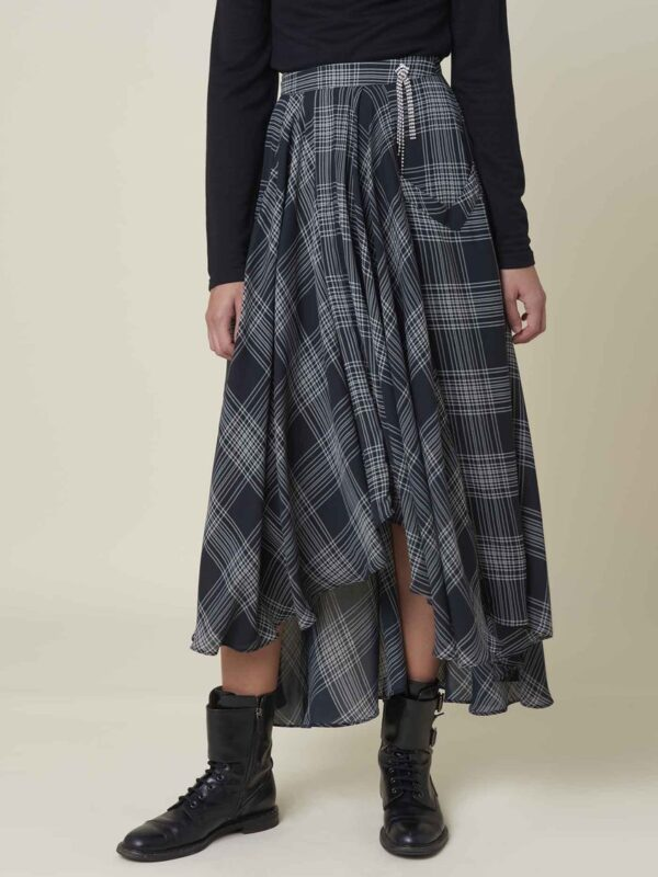 Silvian Heach Chopper Check Skirt