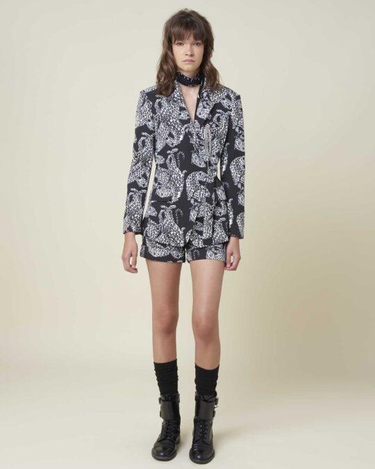 Silvian Heach Leopard Printed Blazer