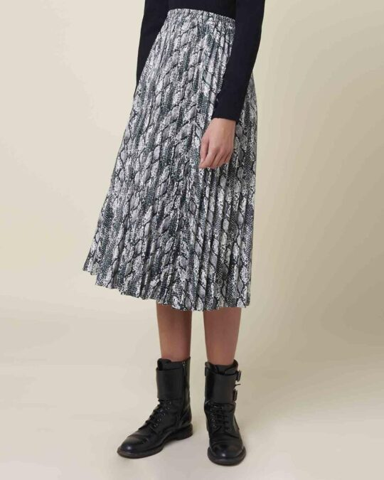 Silvian Heach Bubba Snake Print Skirt