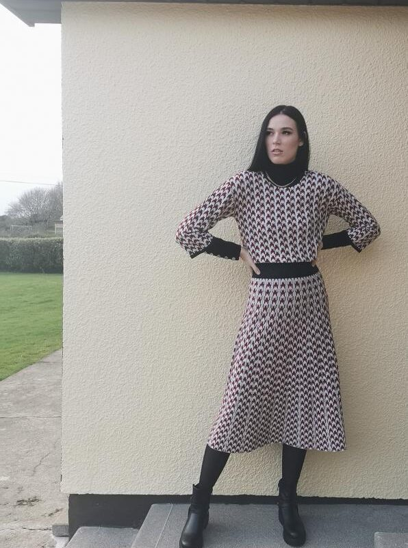 Silvian Heach Knitted Two Piece In Houndstooth