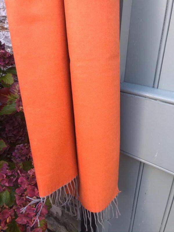 Corona Silver Orange & Brown Pashmina