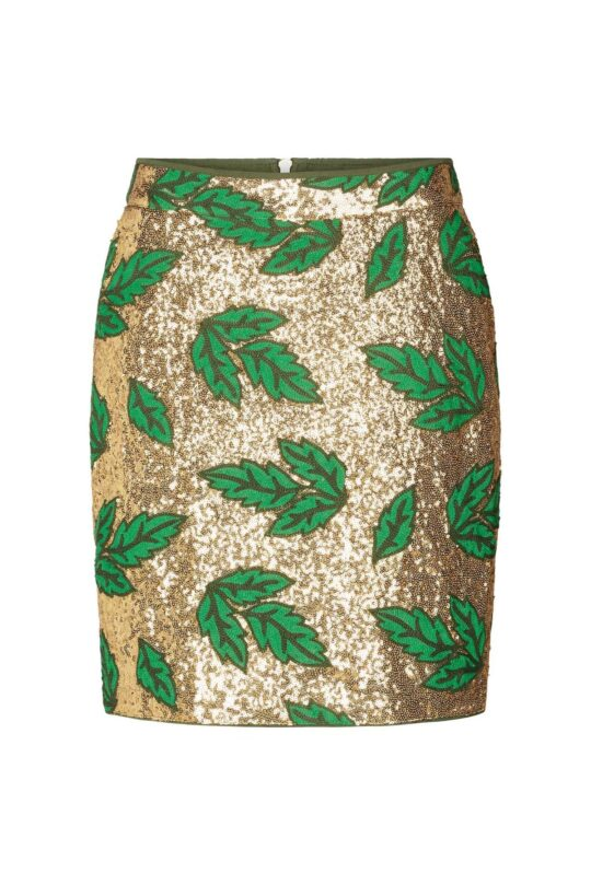 Lolly's Laundry Gold And Green Skirt