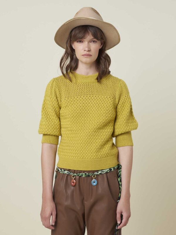 Silvian Heach Absolon Honeycomb Textured Sweater