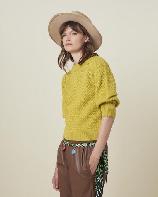 Silvian Heach Absolon Honeycomb Textured Sweater