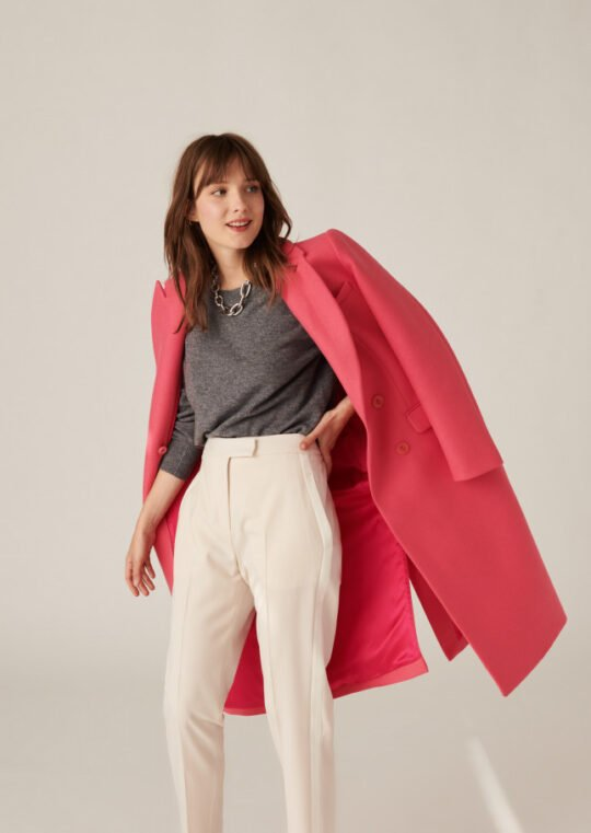 Tara Jarmon Mathieu Pink Coat