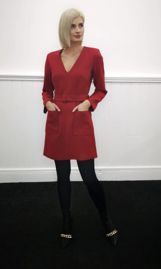 Tara Jarmon Rubina Red Dress