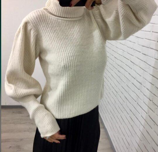 Kyla Cream Roll Neck Knit Jumper