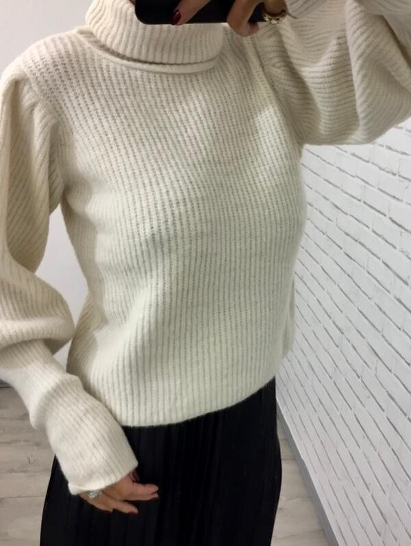 Kyla Cream Roll Neck Knit Jumper