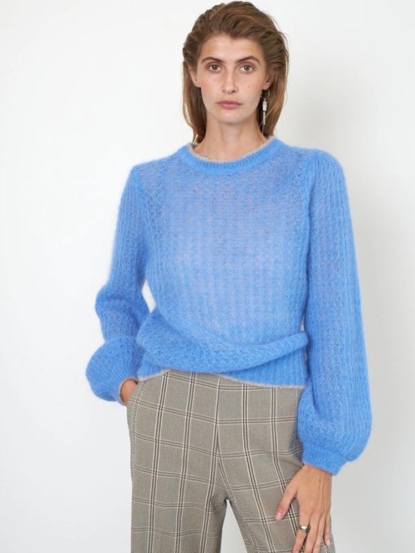 Second Female Brett Knit In Cornflower Blue