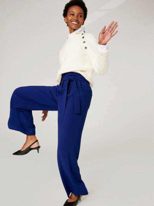 Tara Jarmon Pia Midnight Blue Trouser
