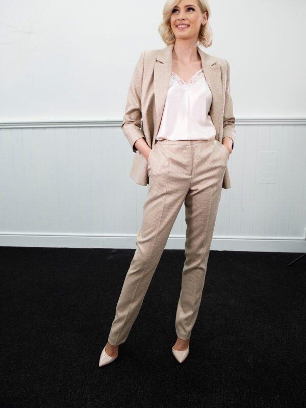 Caroline Kilkenny Finn Micro Checked Trouser