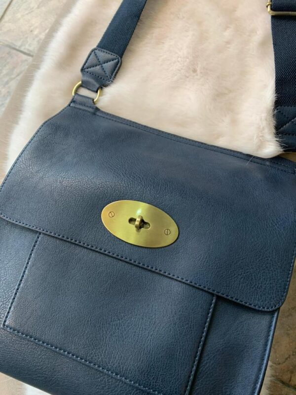 Kyla Faux Leather Grey Handbag