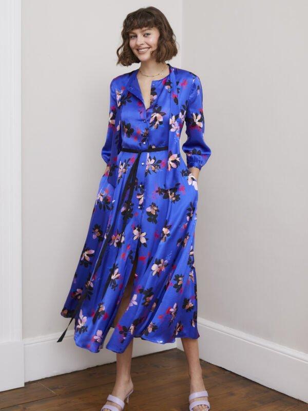 Caroline Kilkenny Sister's Blue Ricki Dress