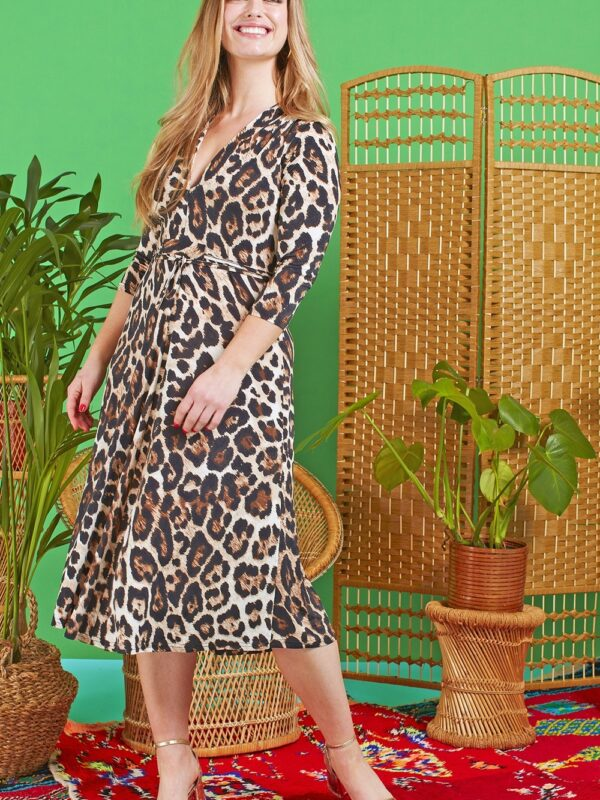 Onjenu Amy Atremis Animal Print Dress