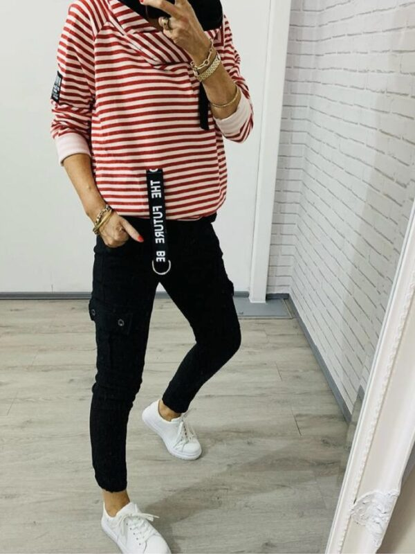 Kyla Red Striped Top