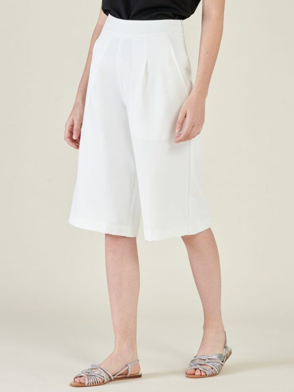 Silvian Heach Beville Cropped White Culotte