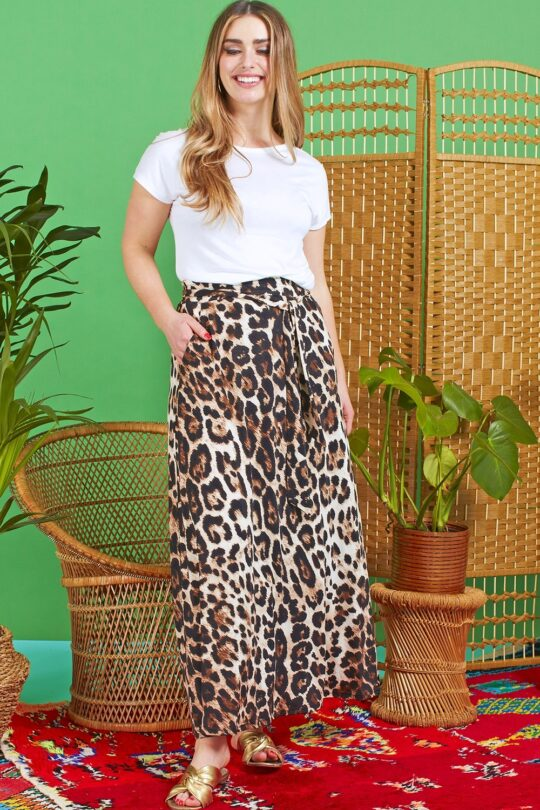 Onjenu Olivia Atremis Animal Print Skirt
