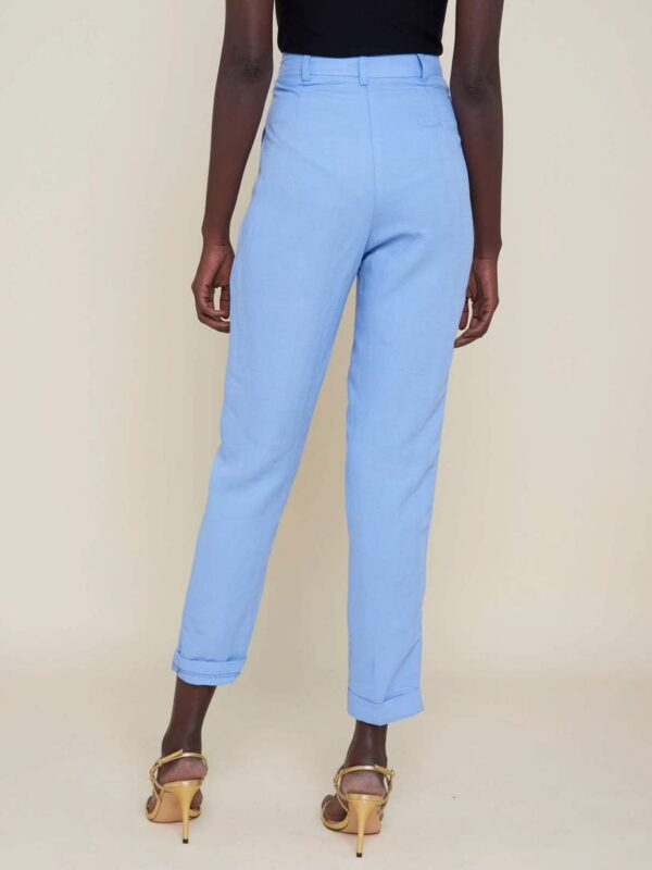 Silvian Heach Marriet High Waisted Blue Trousers
