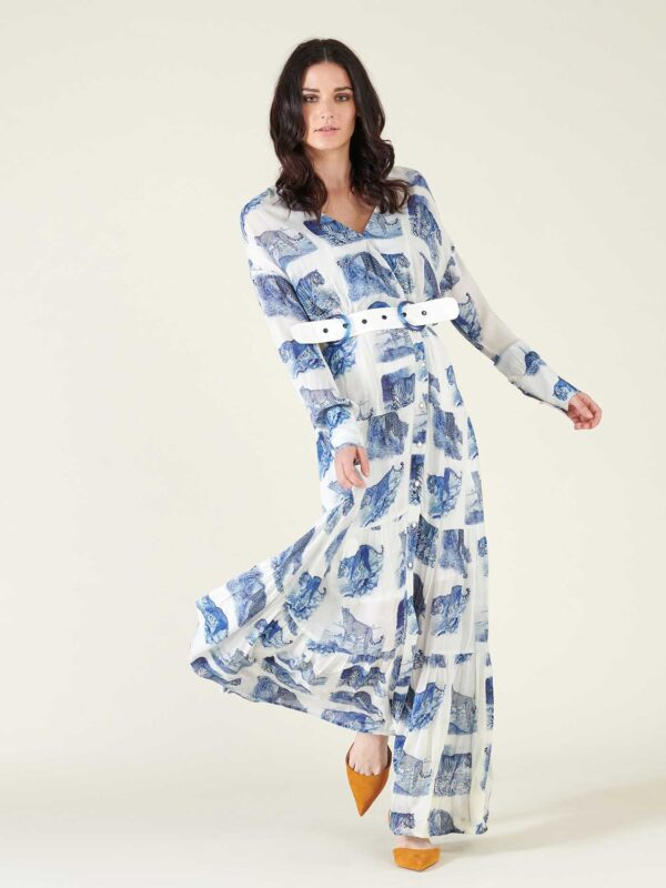 Silvian Heach Peakes Maxi Printed Dress