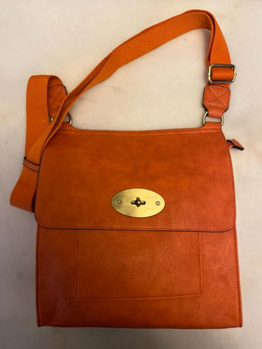 Kyla Faux Leather Orange Handbag