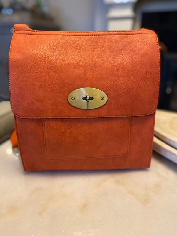 Kyla Faux Leather Orange Handbag