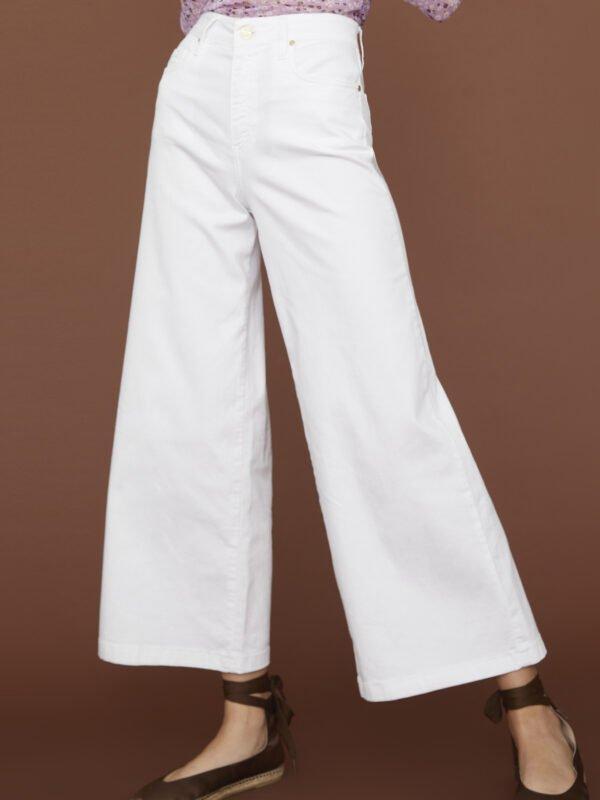 i Blues White Five Pocket Denim Trouser