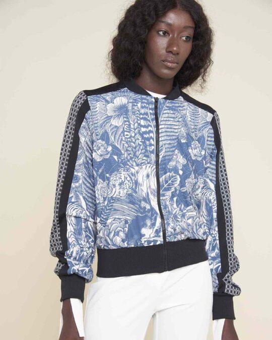 Silvian Heach Floral Bomber Jacket