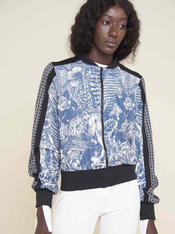Silvian Heach Floral Bomber Jacket