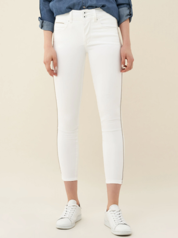 "Salsa High Waisted ""Push In"" Jeans White"