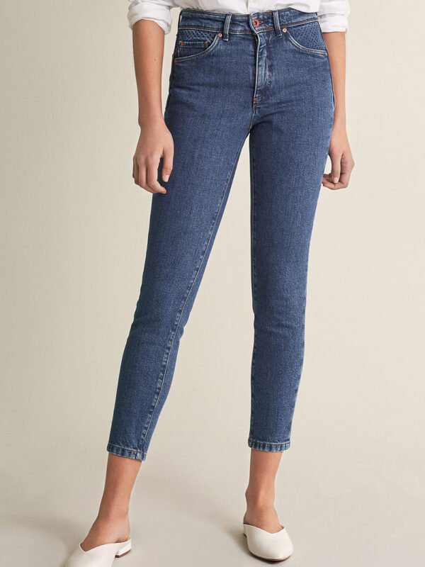 "Salsa High Waisted ""Push In"" Jeans Dark Denim With Details"
