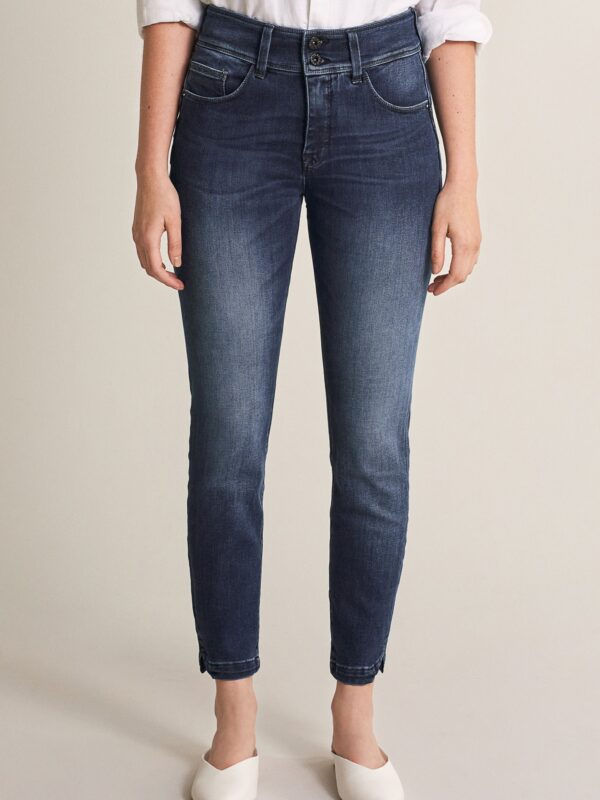 "Salsa High Waisted ""Push In"" Jeans Dark Denim With Straight Leg"