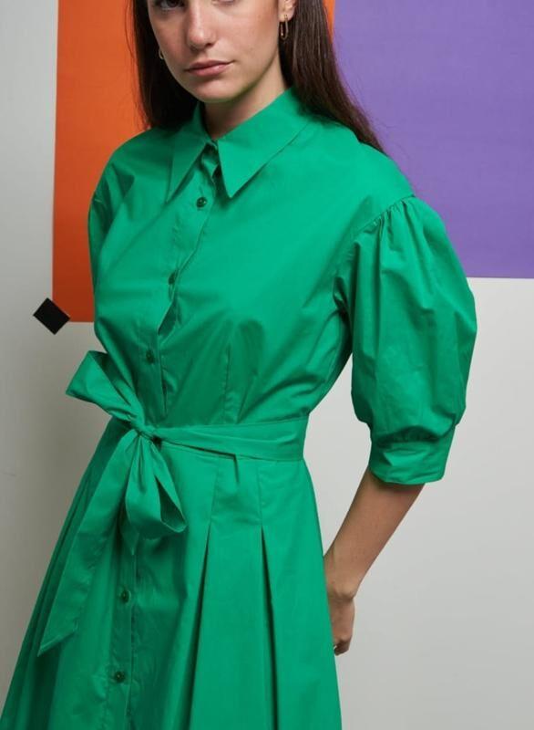 Green Cotton Katie Dress