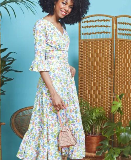 Onjenu Leslie Meadow Print Dress