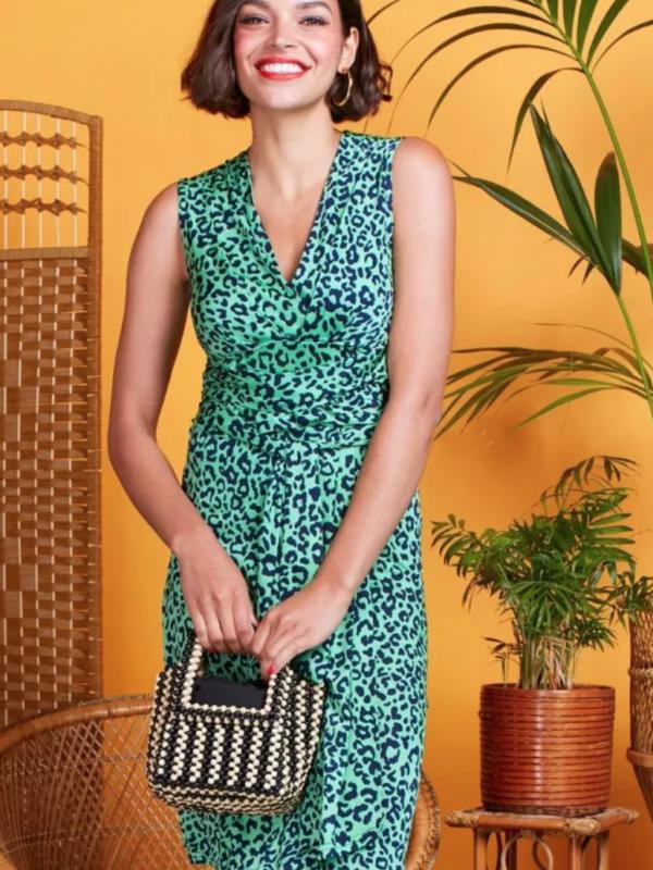 Onjenu Pitot Gupard Green Dress