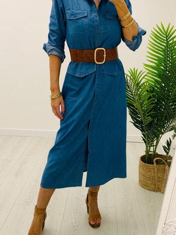 Kyla Denim Style Dress