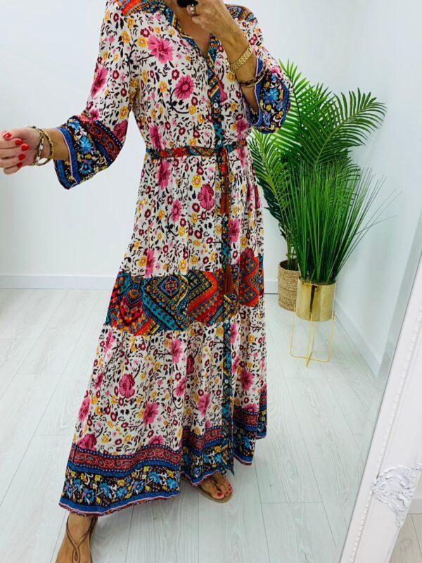 Kyla Red Print Maxi Dress