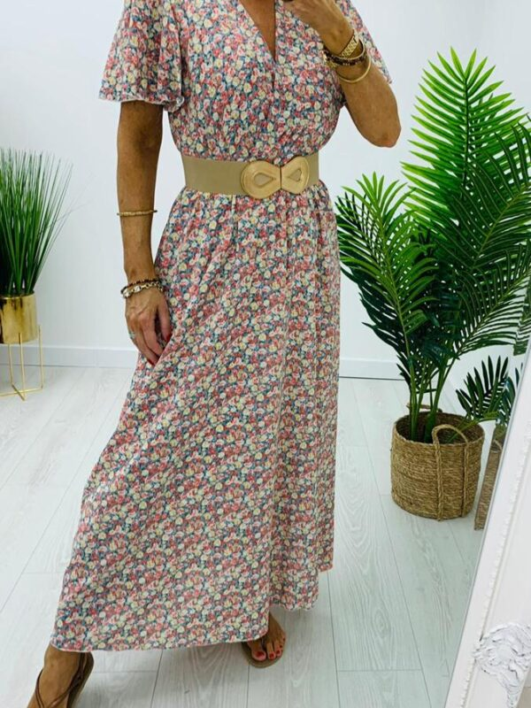 Kyla Floral Print Maxi In Blush Tones